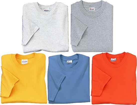 t-shirt-hanes_5half_oz_colors_light Camiseta de Algodão X Camiseta de Malha PV