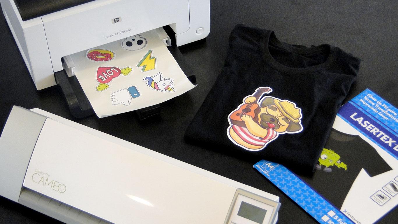 Lasertex - Opção de estampa para camisetas de algodão